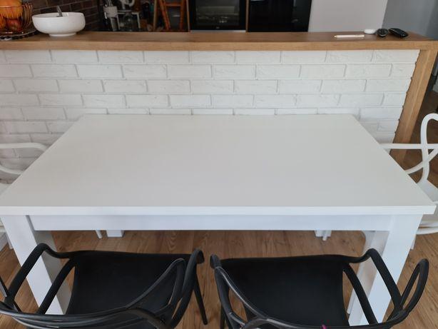 Biały stół drewniany rozkładany 140/200x80 okleina drewniana