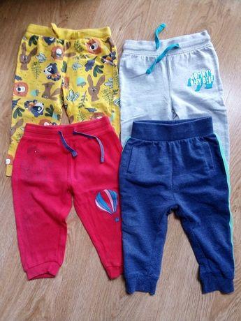 Spodnie dresowe x 4 r. 80 bluzeczka gratis
