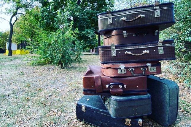 Чемоданы, ретро чемоданы, декор, сундуки