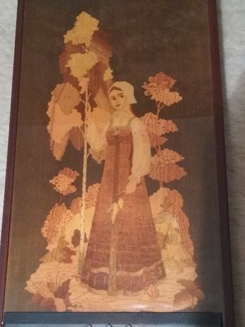 Радио - Картина, инкрустация разным деревом. Аленушка, Юность, СССР