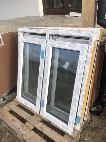 Okno plastikowe dwuskrzydlowe, dwuszybowe, białe