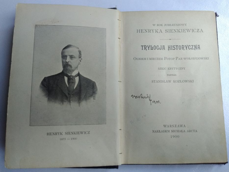 Książka rok 1900 r. trylogia historyczna H. Sienkiewicz Warszawa - image 1