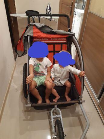 Zadbana przyczepka do roweru lub wózek!