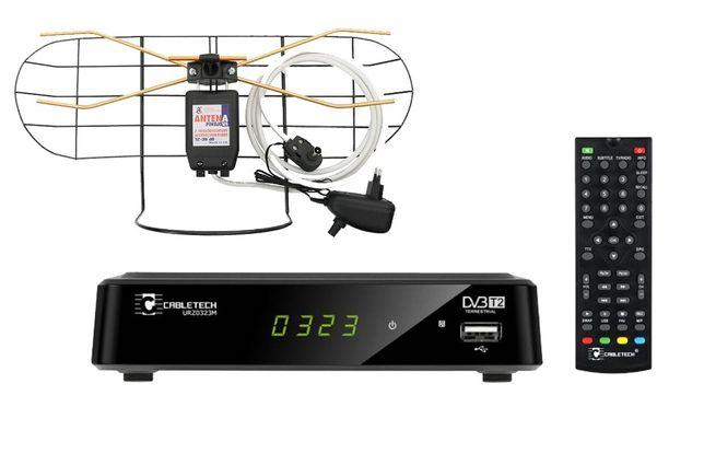 NOWY cyfrowy zestaw dvb-t dekoder tuner + antena YAGA GWARANCJA 24 m