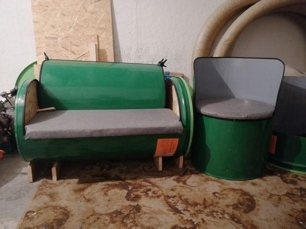 Fotele ogrodowe z beczki