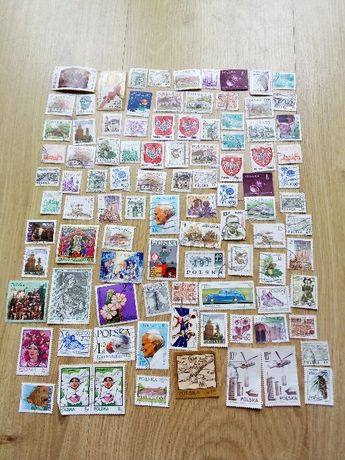 znaczki Polska kilkadziesiąt sztuk (ok. 100) zestaw