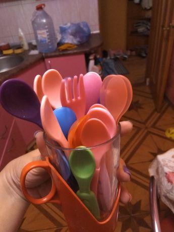 Детская ложка пластик