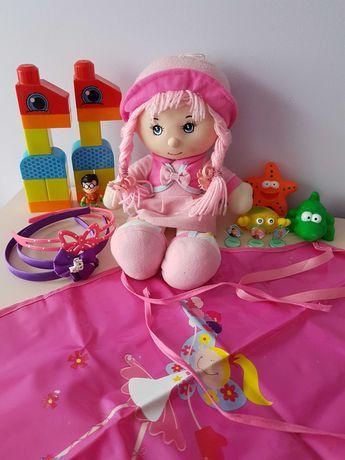 Zestaw zabawek lalka, klocki+gratisy