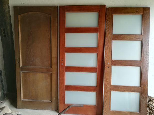 Drzwi drewniane skrzydła