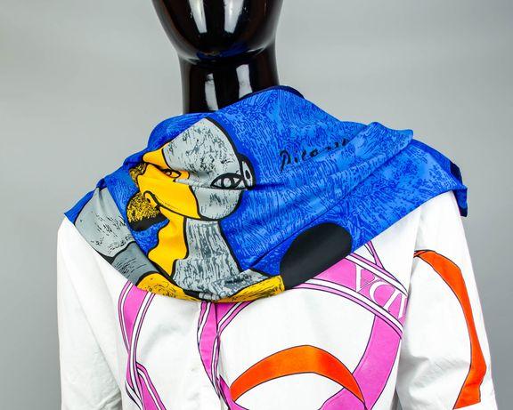 Фирменный шелковый платок Pablo Picasso.Платочек с интересным рисунком
