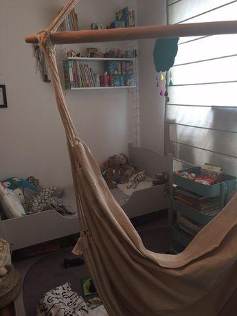 łóżko dziecięce  dla przedszkolaka junior  z materacem drewniane