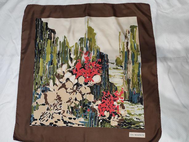 Брендовый винтажный платок Da Maren