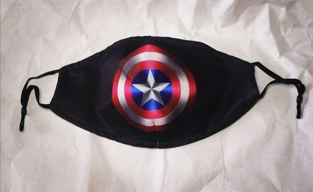 Защитная маска для лица, многоразовые маски с принтами, Марвел, новая