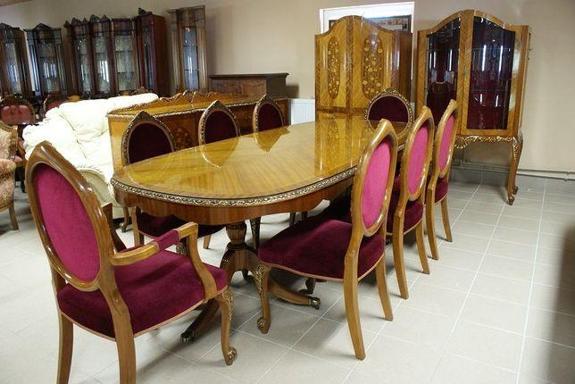 Столовая вітальня в стиле Ампир. Стол, 8 стульев, комод, 2 шкафа.