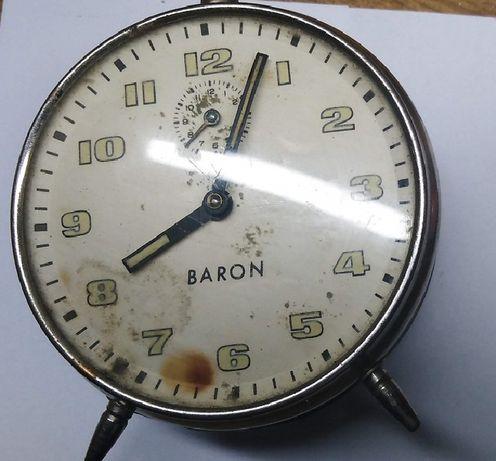 Zegar budzik Baron mechanizm metalowy