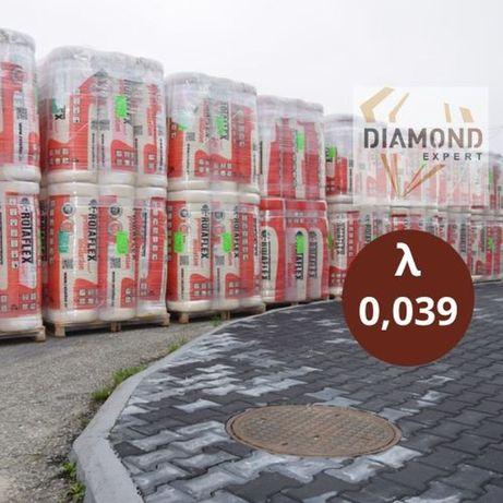 Wełna Mineralna-20-Rolki-0,039-Mata-Poddasza-Domy Szkieletowe-Wata