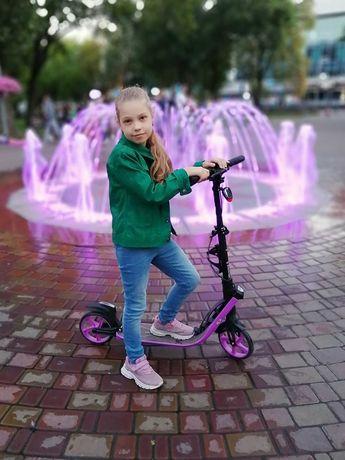 Городской самокат с ручным тормозом Maraton Concept 210 (фиолетовый)
