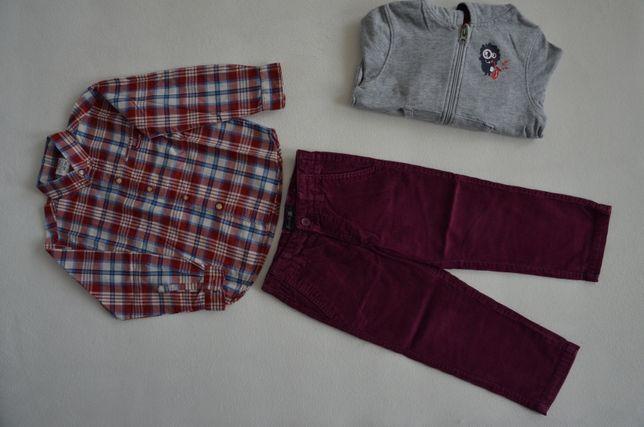 MAYORAL spodnie j nowe zestaw chłopięcy koszula bluza paka 2 3 lata 98
