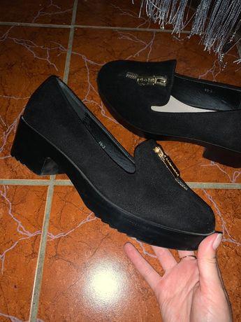 Замшевые осенние туфли