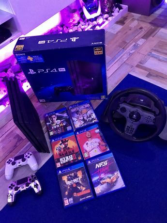 Playstation PS4 PRO 4K 1TB + 2 Comandos + Jogos