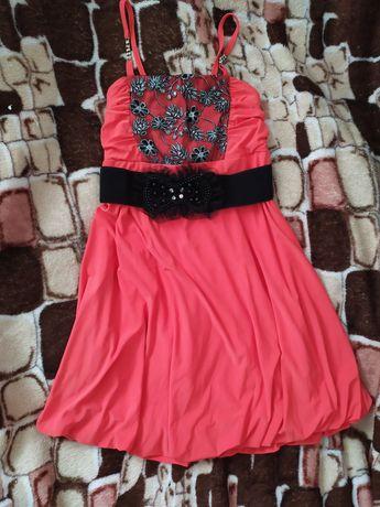 Коралова сукня, святкова сукня, плаття коралове