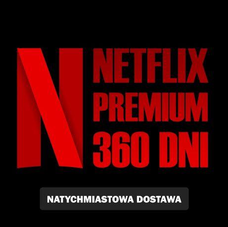 Netflix 12 miesięcy za 100 zł konta premium