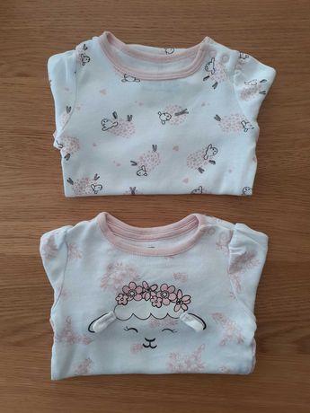2 sztuki Body niemowlęce dla dziewczynki. Rozmiar 62