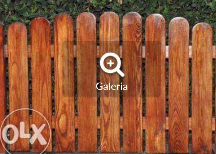 sztacheta drewniana ogrodzenie