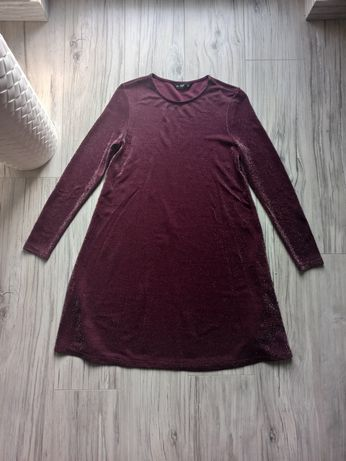 Sukienka rozkloszowana ze srebrną nitką rozmiar 38