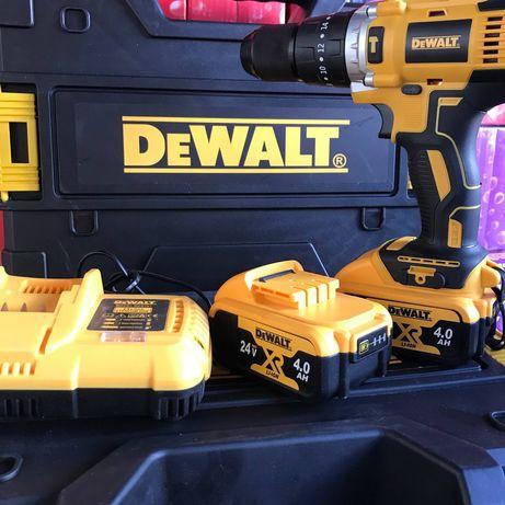 мощный шуруповерт аккумуляторный DeWalt dcd791 24v.4.0Ah.