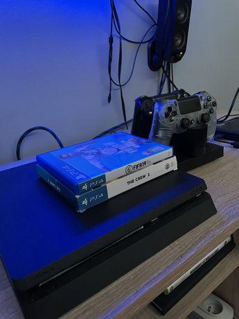 PS4 Slim 2 pady + ładowarka
