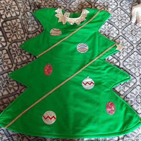 Платье детское Ёлка  c 5 лет