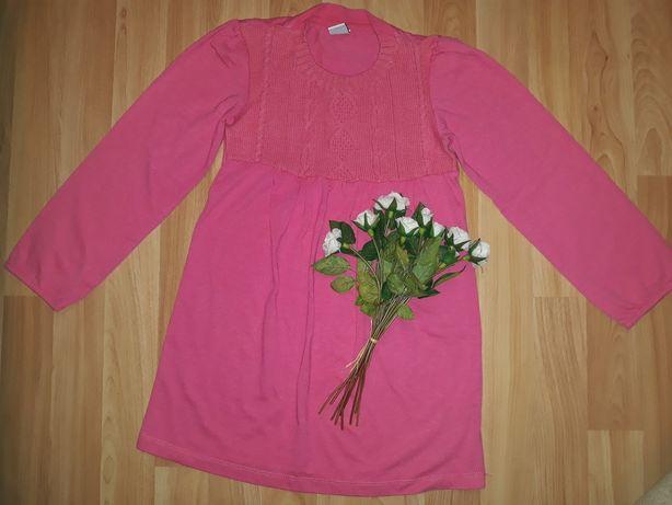 Платье трикотажное на 5-7 лет