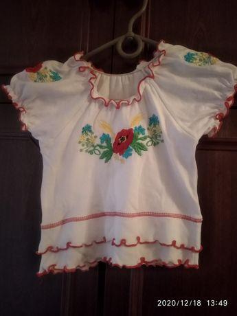 Продам детскую блузку в украинском стиле