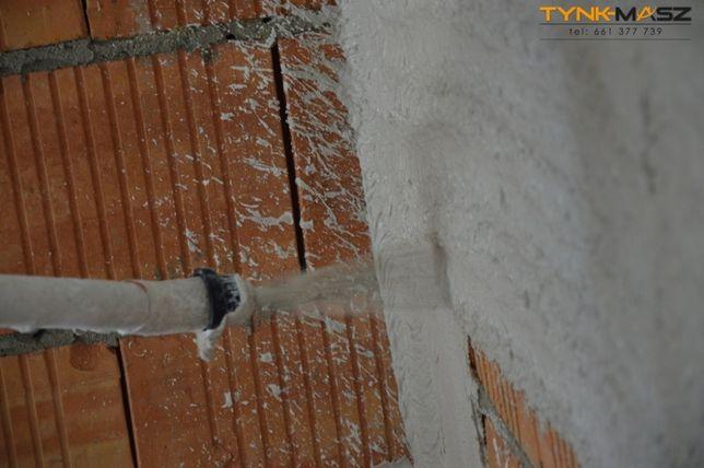 Tynki maszynowe gipsowe cementowo-wap działki bez prądu, DIAMANT