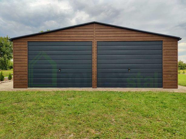Garaż drewnopodobny premium orzech złoty dąb multigloss 6x5 7x5 6x6