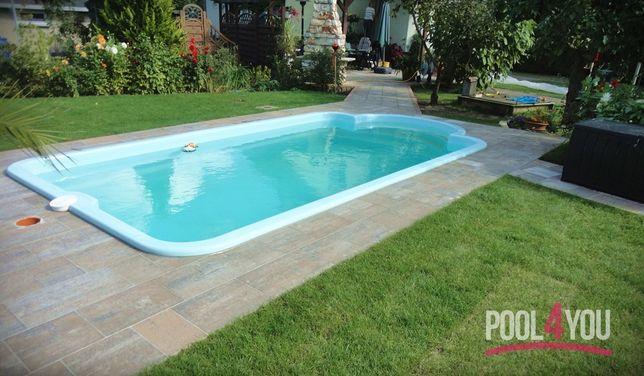 Basen ogrodowy poliestrowy kąpielowy gotowy 8x3 Zestaw PRODUCENT