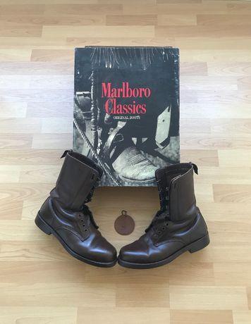 Botas Marlboro Classics castanhas na caixa original