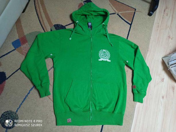 Bluza Mass denim M L piękna zielona kaptur prosto