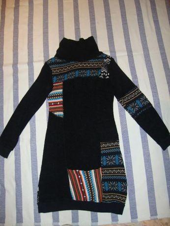 Платье теплое с орнаментом.