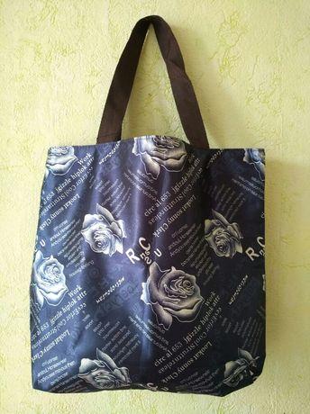 Летняя тканевая сумка