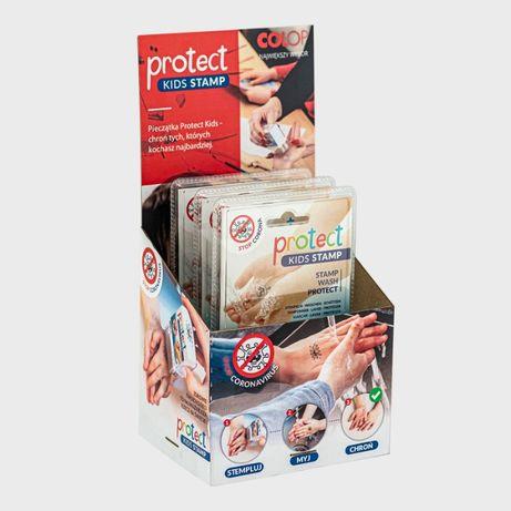 Pieczątka czyste rączki dla dzieci ochrona myj ręce