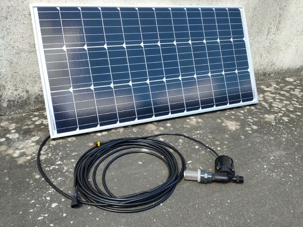 Kit solar painel fotovoltaico bomba de água submersível rega poço lago