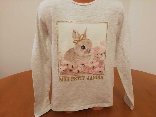 Bluzka króliczek H&M rozm. 128 -134
