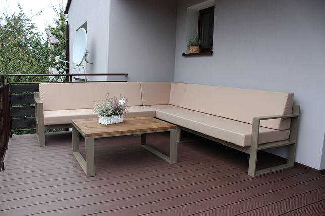 Meble ogrodowe, meble stalowe, loft, industrial 2x2,5m +stolik kawowy