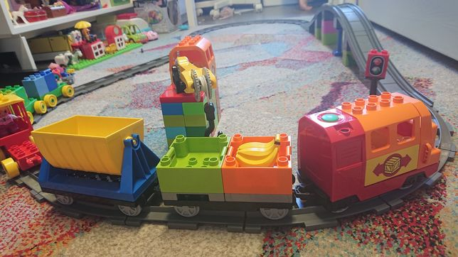 Lego duplo duzy zestaw pociag minnie zwierzeta dom auto