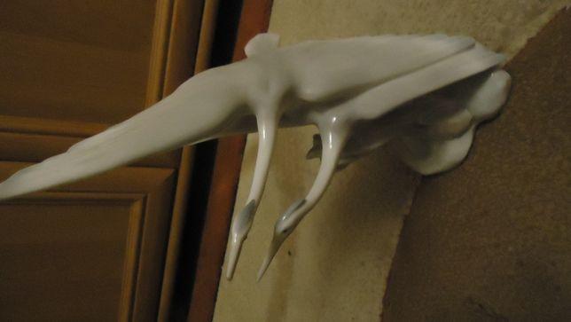 figurka porcelanowa żurawie