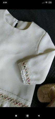 Sukienka na Chrzest/święta r. 62-68