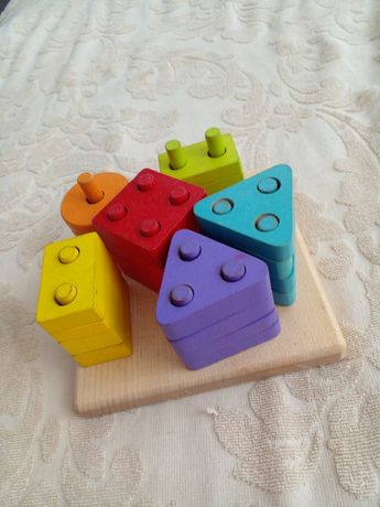 Cортер сubika, деревяный, пирамидка