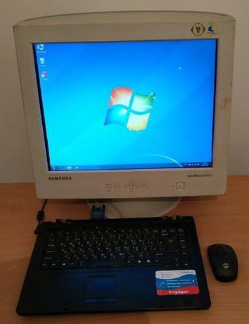 Ноутбук roverbook voyager v515wh + монитор Samsung 19